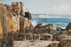 A Arte em Portugal: Alfredo Roque Gameiro - Ericeira - Arribas do Mar (Museu Grão Vasco, Viseu)