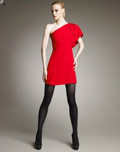 Versace One Sleeve Red Dress