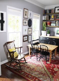 Living With Kids: Shannon Kiswani I think I need to add that paper roll to my own kids table. Living Room Chairs, Dining Chairs, Office Table And Chairs, Ikea Dining, Desk Chairs, Farmhouse Office Chairs, Kid Table, Kids Play Table, Diy Home