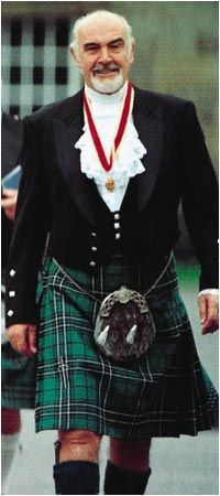 Sir Sean Connery wears the formal evening Kilt outfit. Description from pinterest.com. I searched for this on bing.com/images