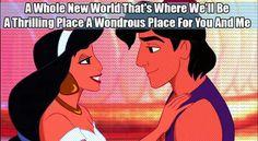 #NafishaDesign Aladdin Disney New world Love