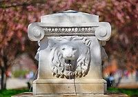 Purdue University Campus - These lions are in front of Stanley Coulter Hall.  Legend has it that any time a virgin walks in front of them, they will roar....they never roared