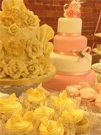 French rococo wedding dessert table