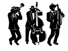 "What's a Great Gatsby Party without a little jazz music? Decorate with 18"" jazz musician cutouts."