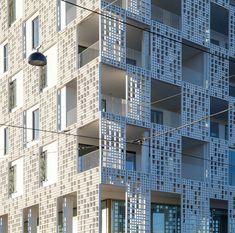 HuttunenLipastiPakkanen Architects apartment building in Helsinki Facade with Rieder's fibreC panels Detail Architecture, Futuristic Architecture, Residential Architecture, Interior Architecture, Building Architecture, Interior Design, Building Skin, Building Facade, Facade Pattern