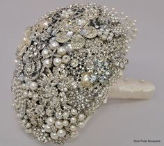 Cascading Diamante by Blue Petyl Bouquets #bridal #bouquet #diamante