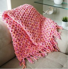 Easy Cozy Crochet Blanket Free Pattern   The WHOot