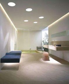 Bathroom: Luxurious Bathroom Interior, A Masterpiece from Award-Winning Dornbracht. Contemporary Bathroom Interior with Bath Accessories Home Interior, Bathroom Interior, Modern Interior, Interior Design, Bathroom Furniture, Modern Bathroom Design, Cool Rooms, Beautiful Bathrooms, Ceiling Design