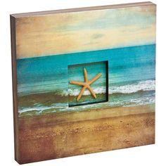 Big Sky Carvers Big Shore Starfish Shadow Box Canvas Wall Art