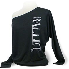 Ballet Shirt Long Sleeve Dance Top Ballet Black Ballet Top for Coverup... ($28) ❤ liked on Polyvore featuring tops, shirts, dance, t-shirts, black, women's clothing, off the shoulder long sleeve top, dolman top, long sleeve button shirt and long sleeve tops