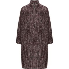 navabi Black / Cream Plus Size Wool blend bouclé coat (18.705 RUB) ❤ liked on Polyvore featuring outerwear, coats, black, plus size, navabi, cream coat, cocoon coat, wool blend coat and stand collar coat