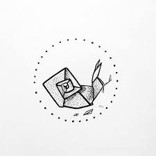 Image result for origami snail tattoo