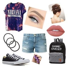 """""""susie_rue"""" by kayla-wilburn-1 on Polyvore featuring Converse, Vans, Frame Denim and Lime Crime"""