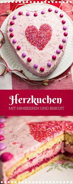Muttertagstorte - Valentinstagstorte mit Himbeeren und Biskuitböden. Super fruchtig und Lecker. Das Rezept ist ohne Gelatine.