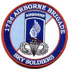 "173rd Airborne Brigade - Sky Soldiers 4"" Patch"