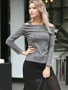 SHARE & Get it FREE | Cold Shoulder Long Sleeve TeeFor Fashion Lovers only:80,000+ Items • New Arrivals Daily • Affordable Casual to Chic for Every Occasion Join Sammydress: Get YOUR $50 NOW!