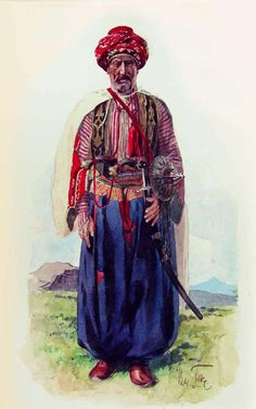 Yazidi man in traditional clothes. Yazidism is another syncretic religion practiced among Kurdish communities, founded by Sheikh Adi ibn Musafir, an 11th century mystic from Lebanon. Their numbers exceed 500,000.