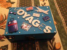 Boîte voyage Birthday Candles, Desserts, Presents, Places, Retirement, 40 Rocks, Cartonnage, Gift, Travel