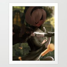 - NieR: Automata Art Print by From The Ground Up, Buy Prints, Buy Posters, Buy Frames, Unique Art, Printing Process, Waiting, Gallery Wall, Smooth
