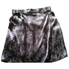 COMPTOIR DES COTONNIERS Blue Silk Skirt