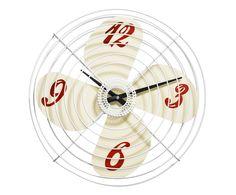 Orologio/ventilatore da parete in metallo Fan - D 38 cm