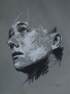Guy Denning (born is a self taught English contemporary artist and painter based in France. He is the founder of the Neomodern. Life Drawing, Painting & Drawing, Charcoal Portraits, Face Sketch, Sketch Drawing, A Level Art, Abstract Painters, Ap Art, Portrait Art