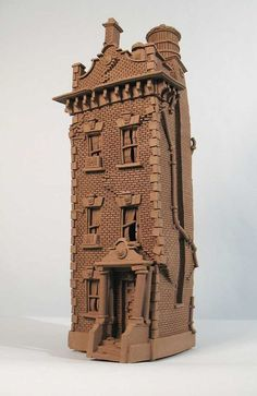 Brick Row House - Buildings - Gallery - John Brickels, Architectural Sculpture and Claymobiles, Essex Jct, Vermont: