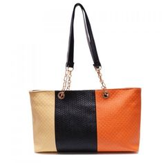 1ab17eea5c Fashion PU Leather and Color Block Design Women s Shoulder Bag ( 18) ❤  liked on