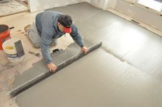 How to level a kitchen floor before adding ceramic tile. Great tips!!
