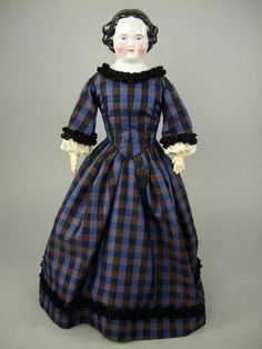 "23"" GERMAN FLAT TOP CHINA HEAD DOLL"