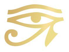 Gold Horus Eye-  Tattoonie #t4aw #egypt #eye #tattoo