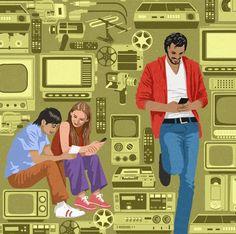 John Holcroft ilustraciones satiricas sociedad 24