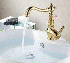 The Best Bathroom Fixtures Images On Pinterest Bathroom - Brass colored bathroom faucets