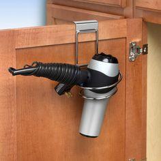 Over the Cabinet Hair Dryer Holder $6.99