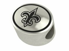 New Orleans Saints Solid Sterling Silver NFL Bead Fits Pandora Style Charm Bracelet Jewelry. $69
