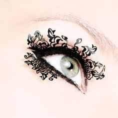Paper lashes!repining just so I can show my daughter,  cause this is ugly. . :-)