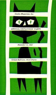 1953 holiday party invitation