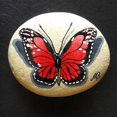 #taşboyama #stonepainting #butterfly