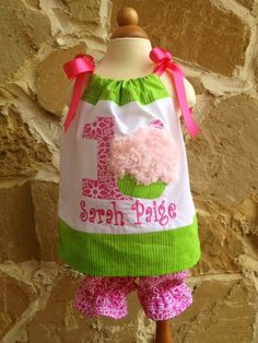 1st Birthday Outfit with bloomers by BabiesNBaubles on Etsy, $49.95