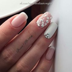 50 Top Best Wedding Nail Art Designs to Get Inspired French Nails, French Pedicure, Manicure Y Pedicure, French Toes, French Manicures, Acrylic Nail Designs, Nail Art Designs, Acrylic Nails, Gel Nail