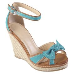 Womens' Hailey Jeans Co  Bow Accent Espadrille Wedges