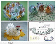 Stylowi.pl - Odkrywaj, kolekcjonuj, kupuj Crochet Dollies, Crochet Birds, Easter Crochet, Free Crochet, Crochet Ornaments, Christmas Crochet Patterns, Bunny Crafts, Easter Crafts, Crochet Chicken