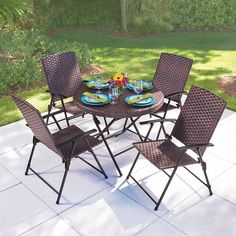The Folding All Weather Wicker Chairs - Hammacher Schlemmer