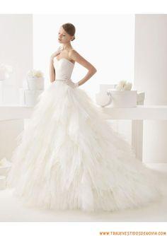 Estilo Evase vestidos de novia de tul con chaqueta
