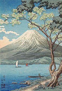 Takahashi Shotei (Hiroaki) (1871 - 1945) Mount Fuji from Lake Yamanaka, before 1936