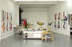 Kelly's Retro Artist Loft in Downtown LA — House Tour Loft Studio, Dream Studio, Art Studio Design, E Design, Studio Art, Design Ideas, Atelier Creation, Turbulence Deco, Artist Loft