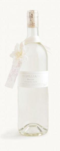 cute bubble bath in a wine bottle http://rstyle.me/n/imswdr9te