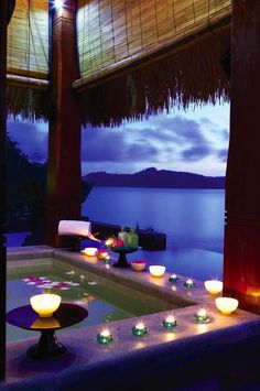 A romantic honeymoon resort in the Seychelles.