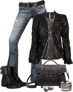 23 Rock-Chic-Rocker-Chick-Spaß im Trendstil Rocker Chick, Look Fashion, Trendy Fashion, Fashion Outfits, Trendy Style, Rocker Fashion, Lolita Fashion, Gothic Fashion, Fall Fashion