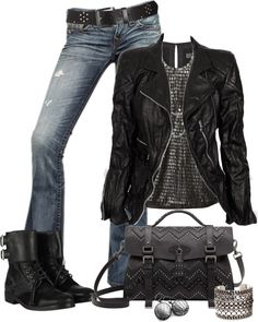 """Rocker Chic"" by johnna-cameron on Polyvore"